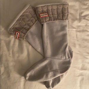 Hunter Knit Welly Tall rainboot insert socks ivory